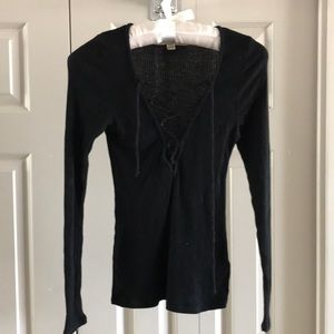 Urban Outfitters black long sleeve tee. Small.